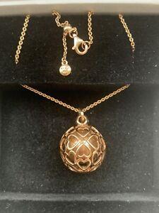 Genuine Pandora Necklace - Rose Gold Harmonious Hearts Chime Necklace 387299-90