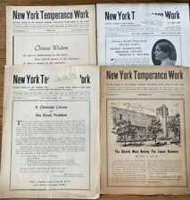 Lot of 4 Vintage Woman's Christian Temperance Union New York Newsletters WCTU