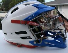 Adult Used Blue & White Cascade Cpx-R Lacrosse Helmet ~ Seven Padding Adjustable