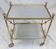Desserte ou Bar roulant art deco en bronze doré Maison Bagués