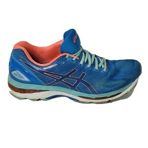 Asics Gel-Nimbus 19 Womens Size 12 Blue Orange Athletic Low Top Running Shoes