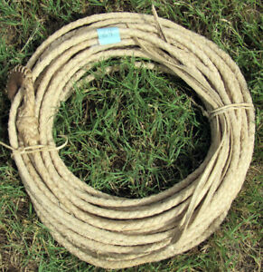 New Rawhide Rope (Lariat, Reata) Handmade in Sonora, Mexico. 69 feet