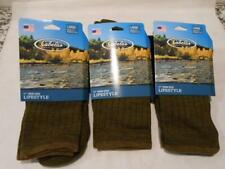 New Cableas Mens Lifestyle Crew Socks Wool Blend Size L (9-12) 3 Pair __S108