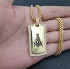 0.50 Ct Round Diamond Masonic Tag Religious Charm Pendant 14K Yellow Gold Over