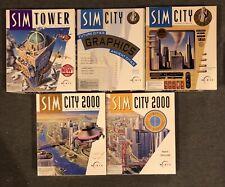 Lot of SimCity Classic (Apple II 2, 1993) Big Box Sim City 3.5 Floppy Disk