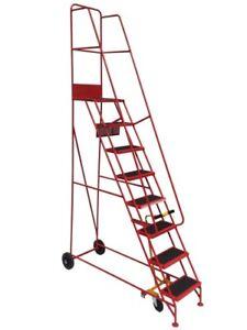 Industrial Warehouse Steps - Narrow - Mobile Steel Heavy Duty Step Ladder