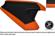 ORANGE & BLACK AUTOMOTIVE VINYL CUSTOM FITS KAWASAKI Z1000 14-16 REAR SEAT COVER
