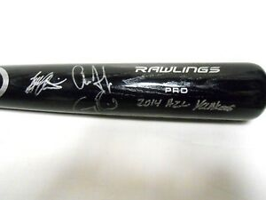 JSA Aaron Judge Tyler Austin Greg Bird Signed Autographed Baseball Bat Yankees