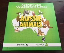 Woolworths AUSSIE ANIMALS Activity and Collector's ALBUM & CARDS