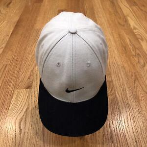 Nike Hat Vintage Mini Center Swoosh Logo Tan Black Fitted 7 1/2 Tiger 90s Hat