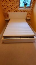 White Ikea Double Bed With Storage And Mattress