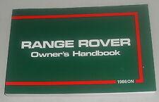 Betriebsanleitung Handbuch / Owner´s Manual Range Rover Classic ab 1986