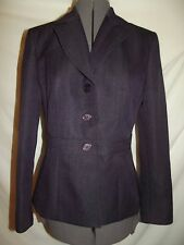 Studio pant suit 6 dark purple blazer jacket herringbone pattern (A58)