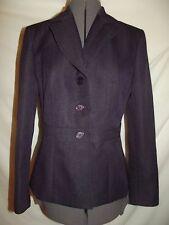 Studio pant suit 6 dark purple blazer jacket herringbone pattern (A58)