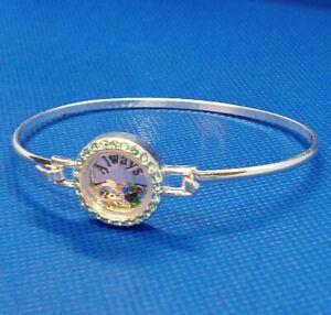 Avon NRQ Signed Many Blessings Bangle Bracelet Always Faithful Moving Stones