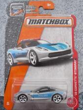 Matchbox 2017 #064/125 2015 CORVETTE STINGRAY silver polizei HEROIC Long Card