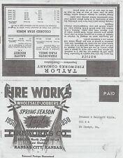 1950 Taylor Fireworks Firecracker Catalog Reprint Kansas City, Ks