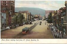 Penn Street Looking East From 5th Street in Reading PA Postcard