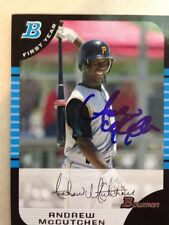 ANDREW McCUTCHEN Signed Autographed 2005 Bowman 1st Year Baseball Card AUTO