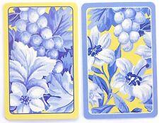 PAIR SWAP CARDS. BLUE FLORAL DESIGN 'CAMDEN COTTAGE' GIBSON USA. MINT