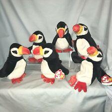 Ty Beanie Babies Lot of 6 Puffer #4181 Penguin 1997 Retired  3+Boy Girl $29.99