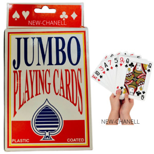 New Jumbo Playing Cards Deck Extra Large Cards Playing Cards Pack of 52 UK