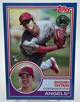 Shohei Ohtani 2018 Topps Update 1983 Anniversary Blue Parallel Rookie Card HOT