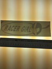 Racer Girl BIG  -  WHITE - Vinyl Sticker Decal - Y7-2.673