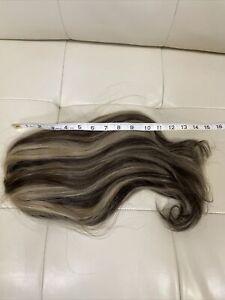 100% HUMAN HAIR Fall - Dark Brown/ Blonde(14 Inches Long)
