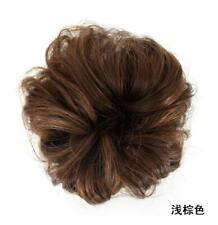 As Human Real Natural Curly Messy Bun Hair Piece Scrunchie Hair Extensions Cheap