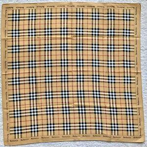 Burberry mini Scarf Handkerchief cotton Nova Check Vintage Authentic Bag Hair
