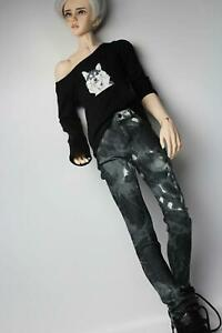 For 1/3 Jean pants straight trousers court Knickers down SD DOD BJD Grey