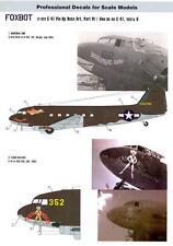 Foxbot Decals 1/72 DOUGLAS C-47 PIN-UP NOSE ART Marjorie Ann & Texas Hellcat