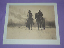 Edward Curtis Native American Indian Vintage Photo Print WINTER CAMPAIGN APSAROK