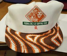 vtg 70s 80s Ralston Purina Snapback Trucker Hat Purina big cat Survival Fund