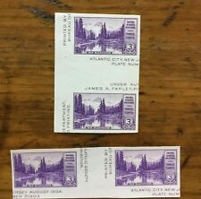 2 MNH Mt. Rainier vertical & horizontal gutter pairs US postage stamps