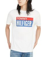 Tommy Hilfiger Mens T-Shirt White Size Large L Graphic Box Logo Crew $39 #265