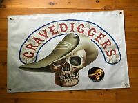 Poster Stone biker movie man cave flag vinyl  outlaw biker STONE GEAR licensed