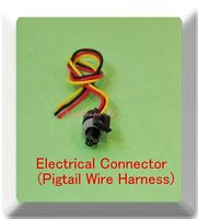 3 Pin / 3 Wire Electrical Connector Pigtail Wire Harness PT2319 Multi Purpose