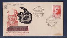 enveloppe 1er jour de la  série personnages  Bourdelle   Montauban  1954