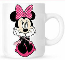 Personalised Minnie Mouse Birthday Gift Present White Mug Cup Any Name