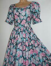 BNWT Laura Ashley Vintage Cabbage Rose Fit and Flare Elegant Tea Dress, UK 16