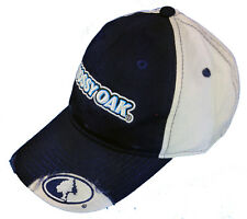 Mens Mossy Oak Casual Cap Blue and white Hat With Mossy Oak Logo