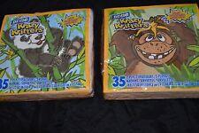 Lot of 2 KRAZY KRITTERS Paper Napkins by Dixie 2004 Panda Bear Monkey 35 Ea.