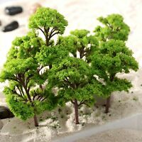 10Pcs Banyan Trees 3D Model Train Railway Garden Park Scenery Layout Scale 12cm