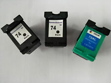 3x Ink Cartridge HP 74XL 75XL for HP C4599 C5200 C4280 C5280 D5360 D5345 Printer