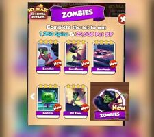 5 x Cards From Zombies Set New Set Coin Master Cards