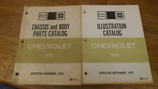 1976 Chassis and Body Parts & Illustration Catalog Chevrolet Camaro Monte Carlo