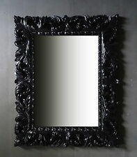 Espejo de Pared Negro Ornamento 100x80 pie pasillo baño