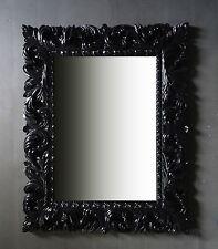 Wandspiegel SCHWARZ Ornament 100x80 Standspiegel Spiegel Flurspiegel Badspiegel
